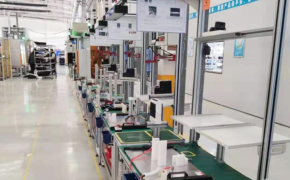 比亚迪模组生产线